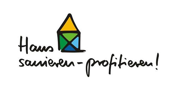 Logo der Kampagne Haus sanieren - profitieren!